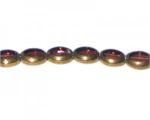 12 x 10mm Plum Vintage-Style Glass Bead, approx. 7 beads