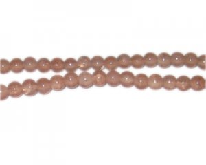 6mm Smoky Quartz-Style Glass Bead, approx. 75 beads