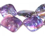 14 - 21mm Purple Irregular Diamond Luster Shell Bead