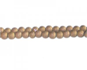 6mm Bronze Druzy-Style Electroplated Bead, approx. 50 bead