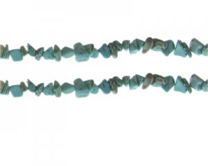 "8 - 10mm Crackle Turquoise Gemstone Chips, 10.5"" string"