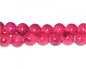 10mm Cherry Quartz-Style Glass Bead, approx. 21 beads
