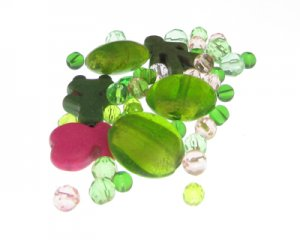 Approx. 1.5-2oz. Floral Glass Bead Mix