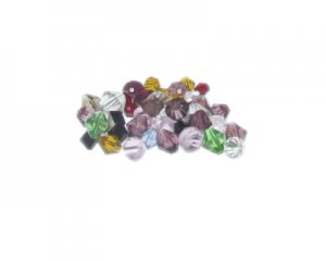Approx. 1.5oz. x 6-8mm Color Bi-cone Glass Bead Mix