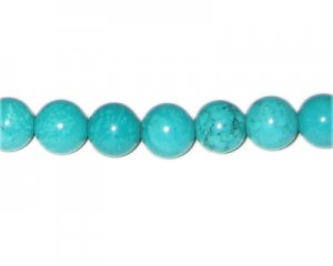 "10mm Dyed Green Turquoise Bead, 16"" string"