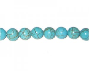 10mm Round Turquoise Beads, approx. 21 beads