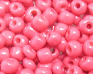 6/0 Rich Pink Opaque Glass Seed Bead, 1oz. bag