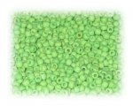 11/0 Apple Green Opaque Glass Seed Beads, 1 oz. bag