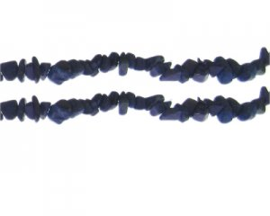"6 - 8mm Dyed Blue Gemstone Chips, 10.5"" string"
