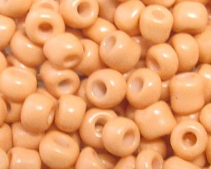 6/0 Apricot Opaque Glass Seed Bead, 1oz. bag