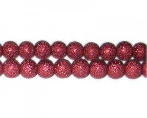 10mm Wine Rustic Glass Pearl Bead, approx. 23 beads