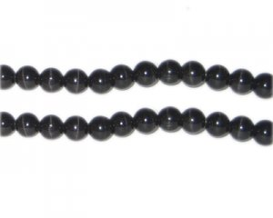 8mm Black Round Cat's Eye Beads, approx. 15 beads