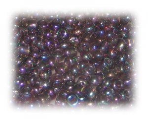 6/0 Purple Rainbow Luster Glass Seed Beads, 1 oz. bag