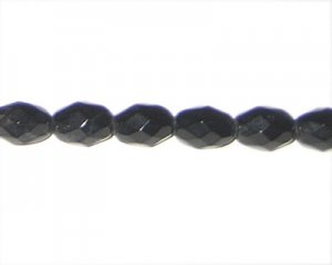 12 x 8mm Black Glass Drop, approx. 14 beads