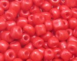 6/0 Strawberry Red Opaque Glass Seed Bead, 1oz. bag