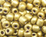 6/0 Gold Metallic Glass Seed Bead, 1oz. bag