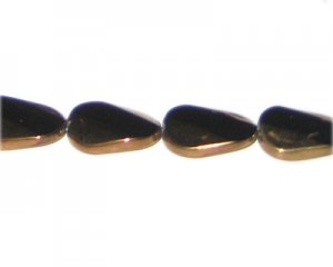 20 x 18mm Black Vintage-Style Polygon Glass Bead, approx. 6 bead