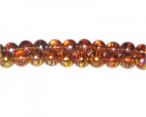 8mm Burning Bush Abstract Glass Bead, approx. 37 beads