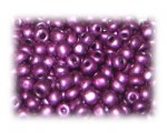 6/0 Purple Metallic Glass Seed Beads, 1 oz. bag
