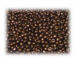 11/0 Dark Copper Metallic Glass Seed Beads, 1 oz. bag