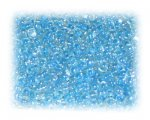 11/0 Baby Blue Rainbow Luster Glass Seed Beads, 1 oz. bag