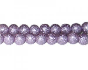 10mm Lilac Rustic Glass Pearl Bead, approx. 23 beads