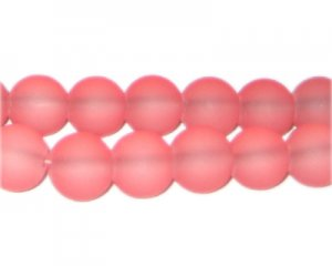 12mm Cerise Sea/Beach-Style Glass Bead, approx. 18 beads