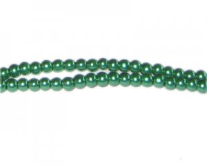 4mm Grass Green Glass Pearl Bead, approx. 113 beads