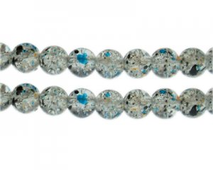 10mm Starry Night Crackle Season Glass Bead, approx. 21 beads