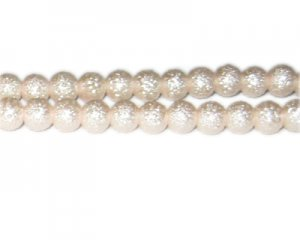 8mm Baby Pink Rustic Glass Pearl Bead, approx. 56 beads