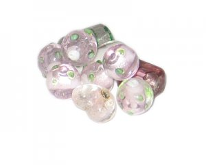 Approx. 1oz. Pink/Purple Lampwork Bead Mix6