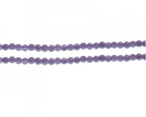 4mm Soft Purple Jade-Style Glass Bead, approx. 105 beads