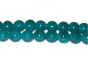 12mm Dark Emerald-Style Glass Bead, approx. 18 beads