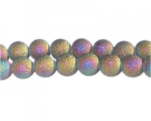 10mm Luster Druzy-Style Electroplated Glass Bead, approx. 24 bea