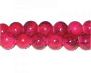 12mm Cherry Quartz-Style Glass Bead, approx. 18 beads