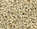11/0 Soft Gold Ceylon Glass Seed Bead, 1oz. bag
