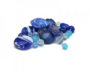 Approx. 1.5 - 2oz. Don't Be Blue Bead Mix