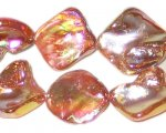 14 - 21mm Orange Irregular Diamond Luster Shell Bead