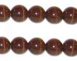 10mm Brown Round Cat's Eye Bead, approx. 10 beads