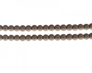 6mm Antique Gold Rustic Glass Pearl Bead, approx. 71 beads