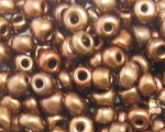 6/0 Copper Metallic Glass Seed Bead, 1oz. bag