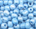 6/0 Sky Blue Opaque Glass Seed Bead, 1oz. bag