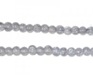 4mm Silver Crackle Glass Bead, approx. 105 beads