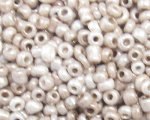 11/0 Silver Opaque Glass Seed Bead, 1oz. bag