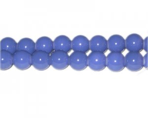 10mm Sky Blue Team and School Glass Bead, approx. 22 beads