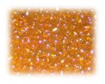 6/0 Soft Orange Rainbow Luster Glass Seed Beads, 1 oz. bag