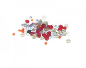 Approx. 1.5 - 2oz. x 1-4mm Color Faceted Glass Bead