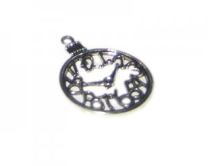 28 x 38mm Silver Clock Outline Metal Steampunk Pendant