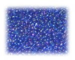 11/0 Blue Rainbow Luster Glass Seed Beads, 1 oz. bag