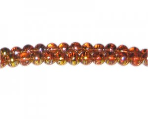 6mm Burning Bush Abstract Glass Bead, approx. 50 beads